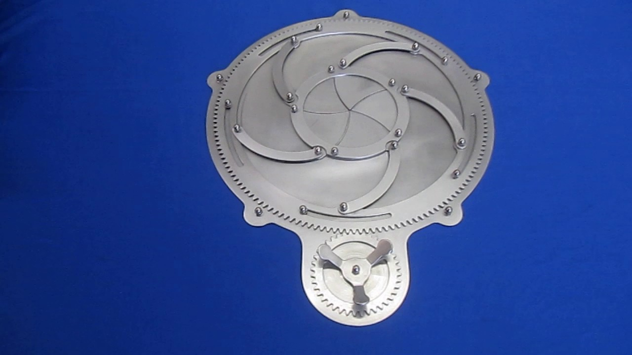 Steampunk Stainless Steel Mechanical 5 Blade Iris Door