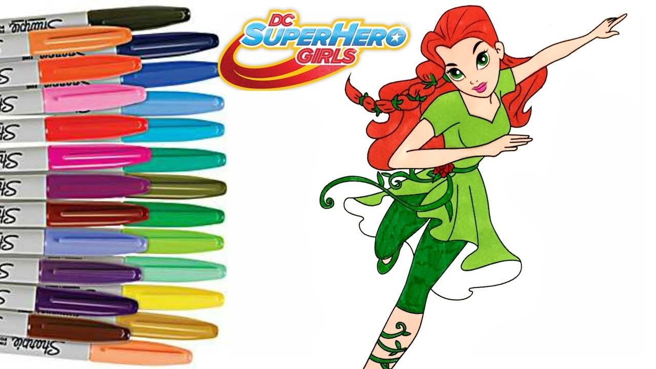 Dc Superhero Girls Poison Ivy Coloring Book Page Superhero Coloring