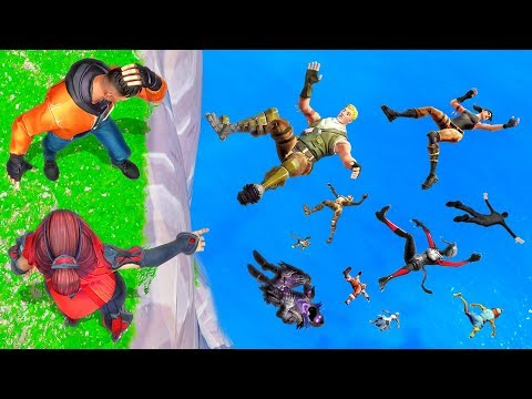SIMON SAYS Jump Off The CLIFF! - Fortnite Battle Royale