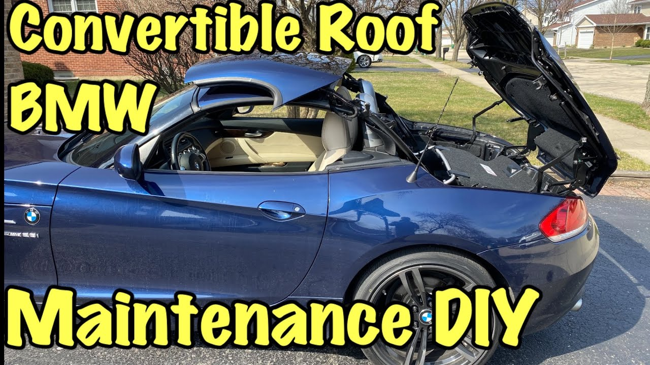 Bmw Convertible Roof Maintenance Diy Youtube