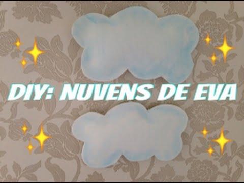 Diy Como Fazer Nuvens De Eva Youtube