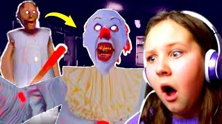 GRANNY TURNS INTO PENNYWISE CLOWN!! 🎈