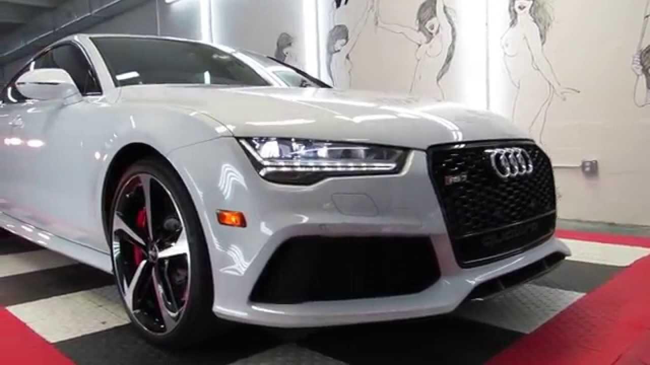 2016 Audi RS7 Suzuka Grey/Ceramic Pro by Advanced Detailing of South Florida - YouTube