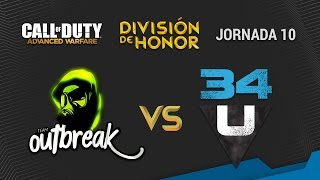 CoDHonor en ADVANCED WARFARE - Team Outbreak vs 34United (13-11-2014)