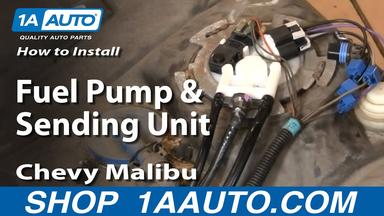 how to replace fuel pump sending unit module 00 03 chevy malibu [ 1280 x 720 Pixel ]