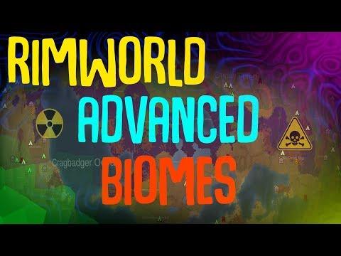 Advanced Biomes! Rimworld Mod Showcase. Nuclear Wasteland, Poison Forest, Wetlands, Savannas