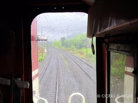 Inside the Locomotive of Indian Railways in Heavy Rain !