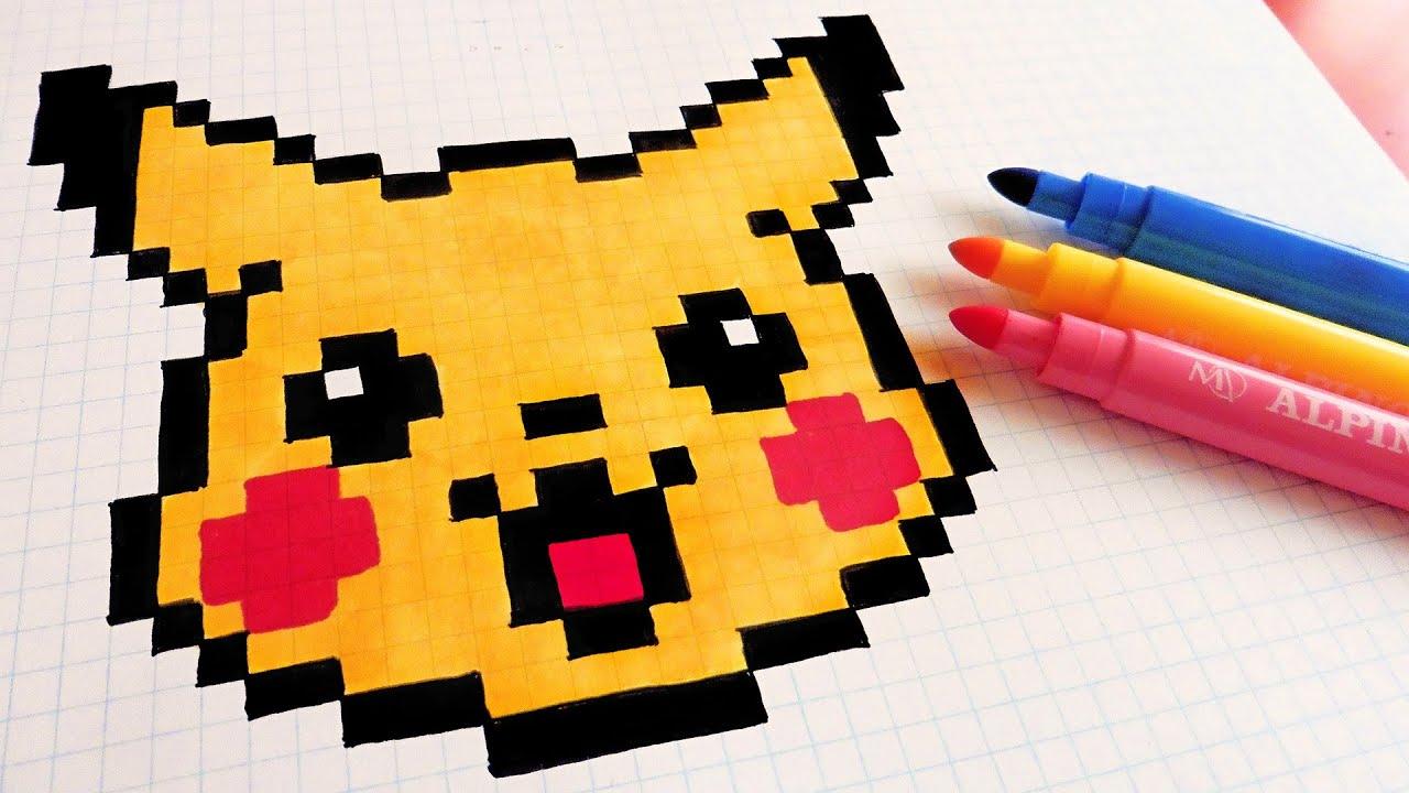Easy Pokemon Pixel Art Grid