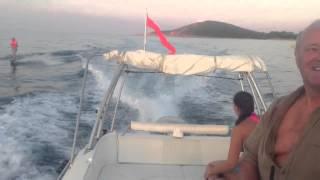 Corse baie de porto Vecchio couche de soleil juillet 2013
