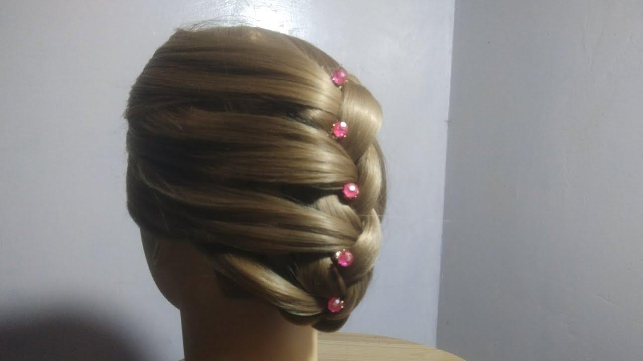 जुड़ा हेयरस्टाइल बनाने का सबसे आसान तरीका    Best Juda Hairstyle For Wedding ,Party, - YouTube