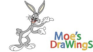 The Looney Tunes Show Bugs Bunny How to draw and coloring fun new Hd video for kids
