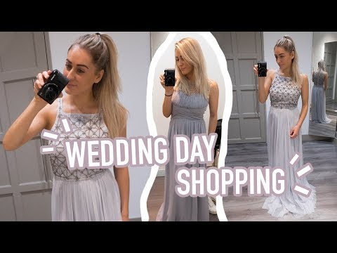 WEDDING DAY DRESS SHOPPING!! FINDING THE DRESS 😍