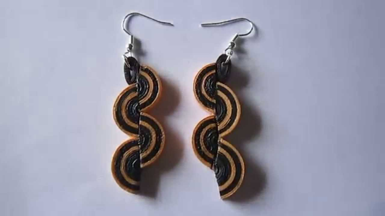 Handmade Jewelry Paper Quilling Half Disk Earrings Free Form Not A Tutorial You