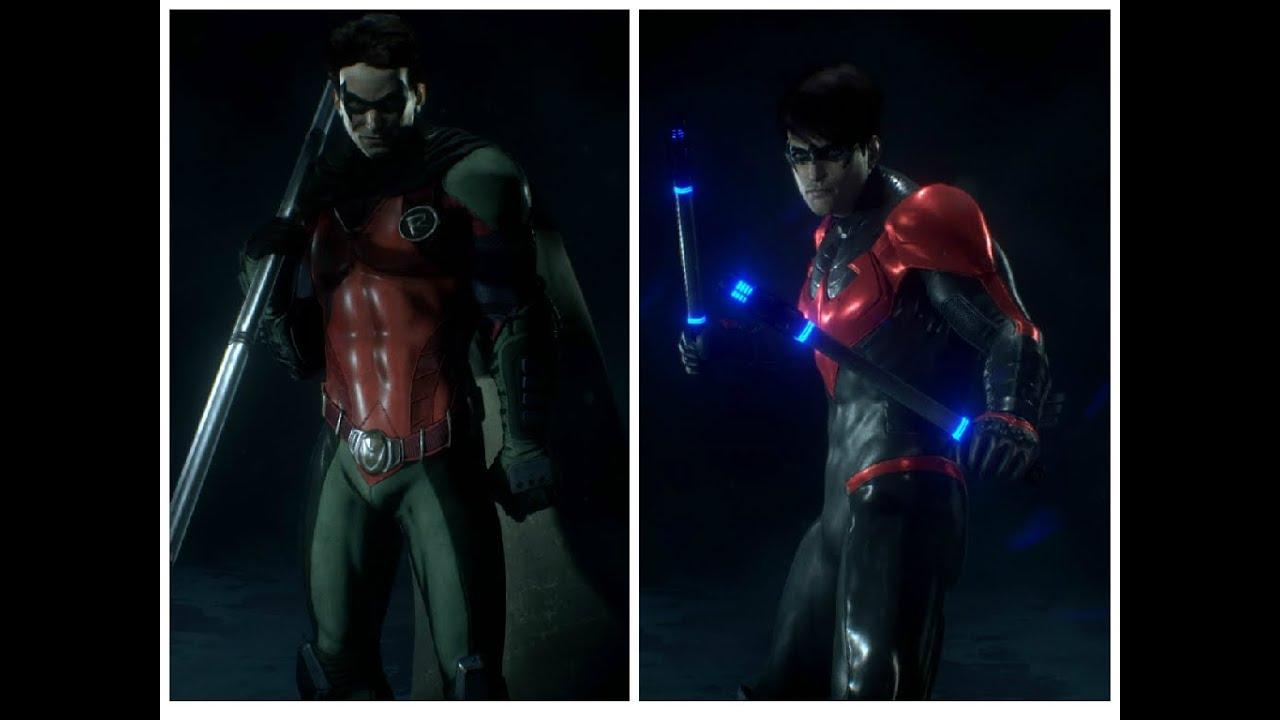 Show Case Of New 52 Robin Skin Nightwing Store DLC Batman Arkham Knight