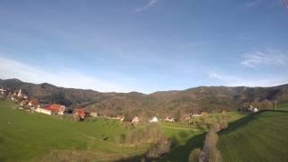 Paragliding near Horben, Black Forest