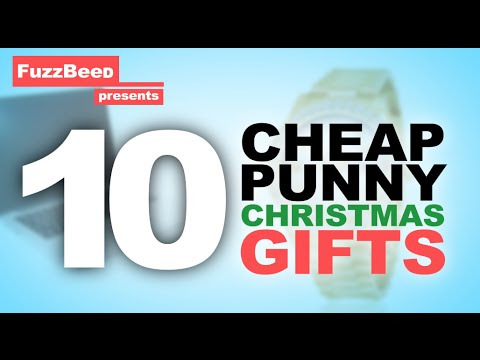 10 Cheap Punny Christmas Gifts! - YouTube