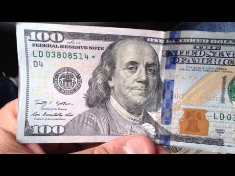 New 100 Dollar Bill Star Note