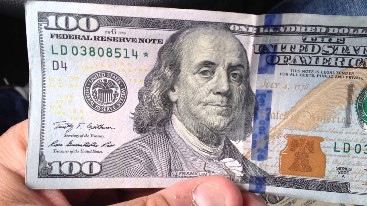 New 100 Dollar Bill Star Note - YouTube 100 Dollar Bill