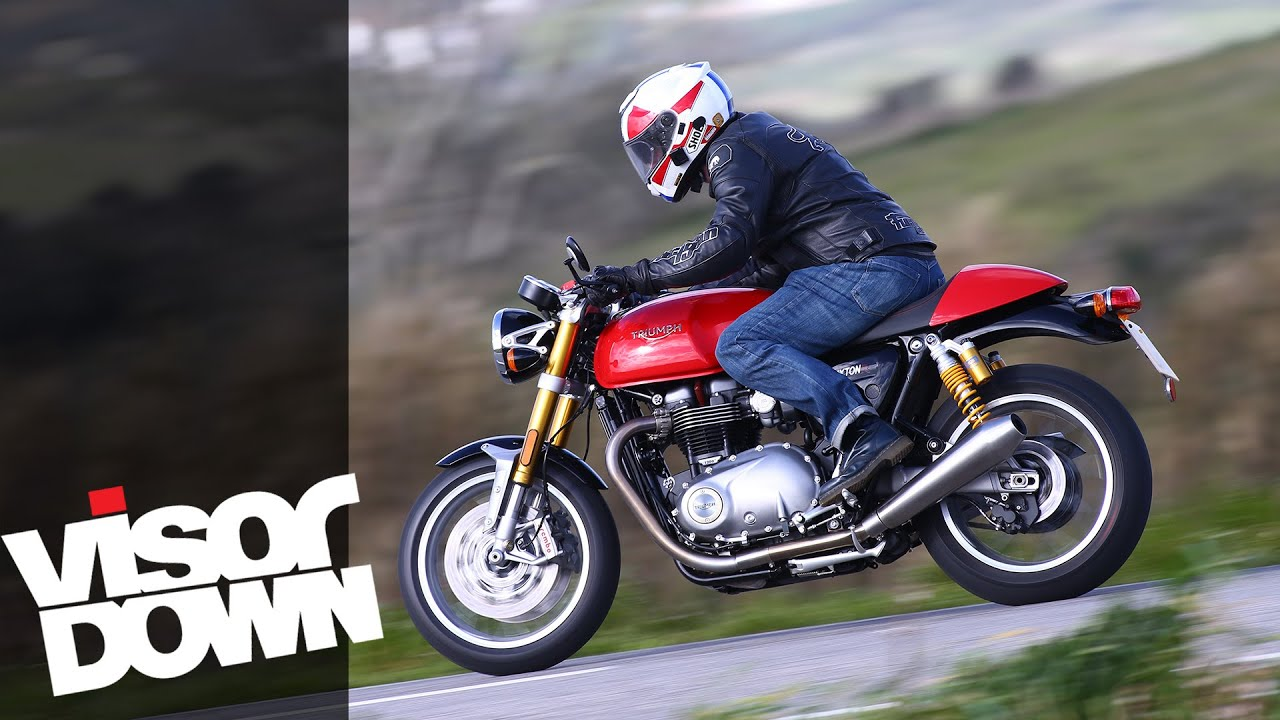 triumph thruxton r review motorcycle road test - youtube