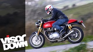 Gambar cover Triumph Thruxton R Review Motorcycle Road Test