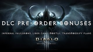 Diablo III Ultimate Evil Edition Infernal Pauldrons/Liber Canis Mortui/Transmogrify Plans (DLC)