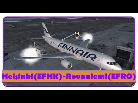 [FSX] FIN421 | FSL A320 | Helsinki- Rovaniemi | Finnair | Snow! |