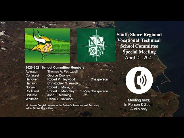 SSVT School Committee; April 21, 2021