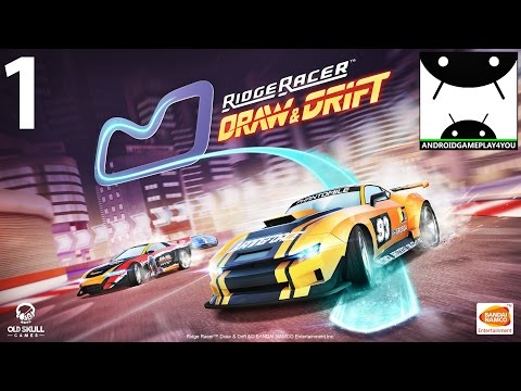 Ridge Racer Draw And Drift Android GamePlay #1 [1080p/60FPS] (By BANDAI NAMCO Entertainment Europe)