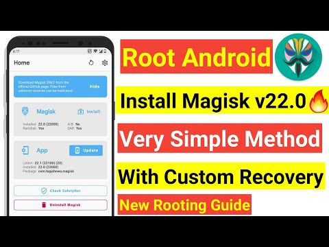 INSTALL MAGISK V22.0 WITH CUSTOM RECOVERY | VERY SIMPLE METHOD TO ROOT ANY ANDROID PHONE 2021