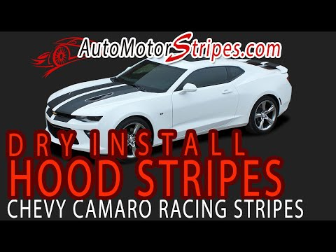 2016-2018 Chevy Camaro SS Rally Racing Stripes CAM SPORT PIN INSTALLATION VIDEO | AMS