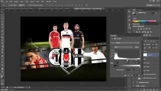 Photoshop Beşiktaş Duvar Kağıdı Tasarımı