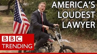The Texas Law Hawk - the loudest lawyer in America. BBC Trending