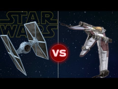 V19 Torrent Starfighter vs Tie Fighter | Star Wars: Who Would Win |