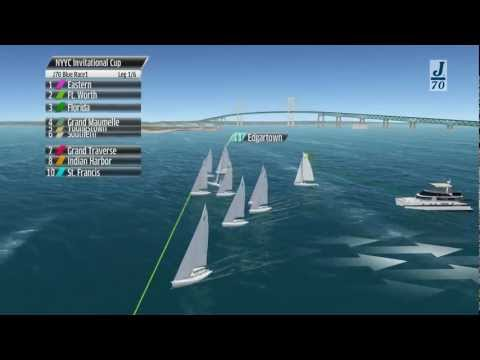 NYYC Invitational Cup - 3D Replay Of The J70 Race 1 (Blue Fleet)