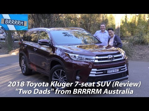 """2018 Toyota Kluger GXL 7-seat SUV (""""Two Dads"""" Review) 