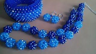 Set of jewelry. Бусы и серьги. Обзор