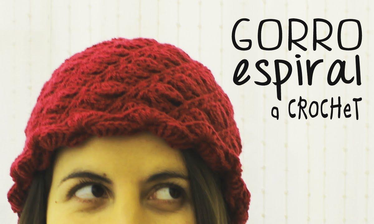 Gorro a Crochet Tejido Espiral - PASO A PASO - YouTube
