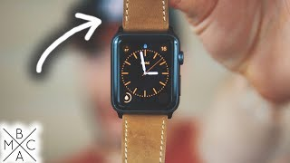 Apple Watch Leather Band UNBOXING & REVIEW! ⌚️