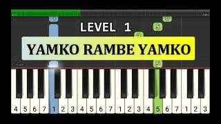 not piano yamko rambe yamko - tutorial level 1 - lagu daerah nusantara - tradisional -  irian jaya