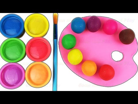 Learn Colors with Play Doh Paint Pallet Fun & Creative for Kids