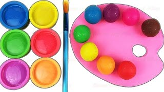 Learn Colors with Play Doh Paint Pallet Ice Cream Baby Bottle Nursery Rhymes Fun & Creative for Kids