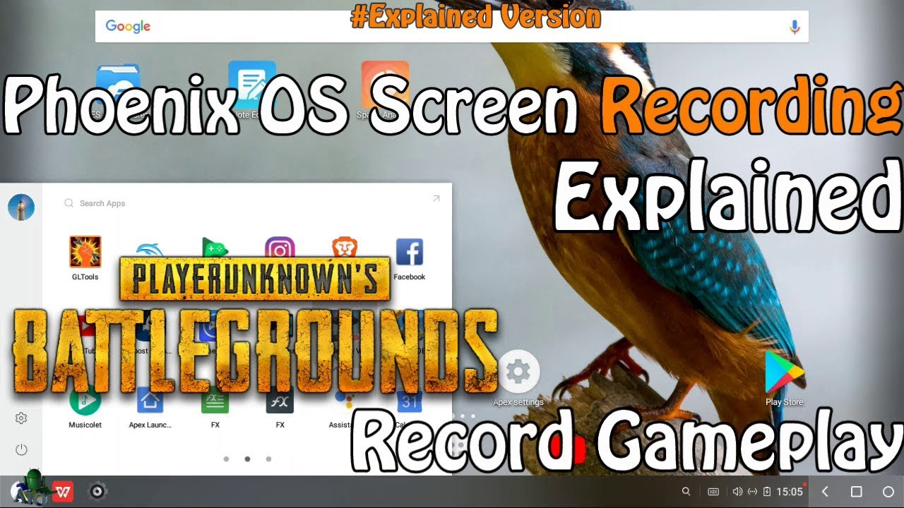 Phoenix OS How to Record Screen Explained PUBG Mobile and Other Games