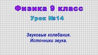 Физика 9 класс (Урок№14 - Звуковые колебания. Источники звука.)