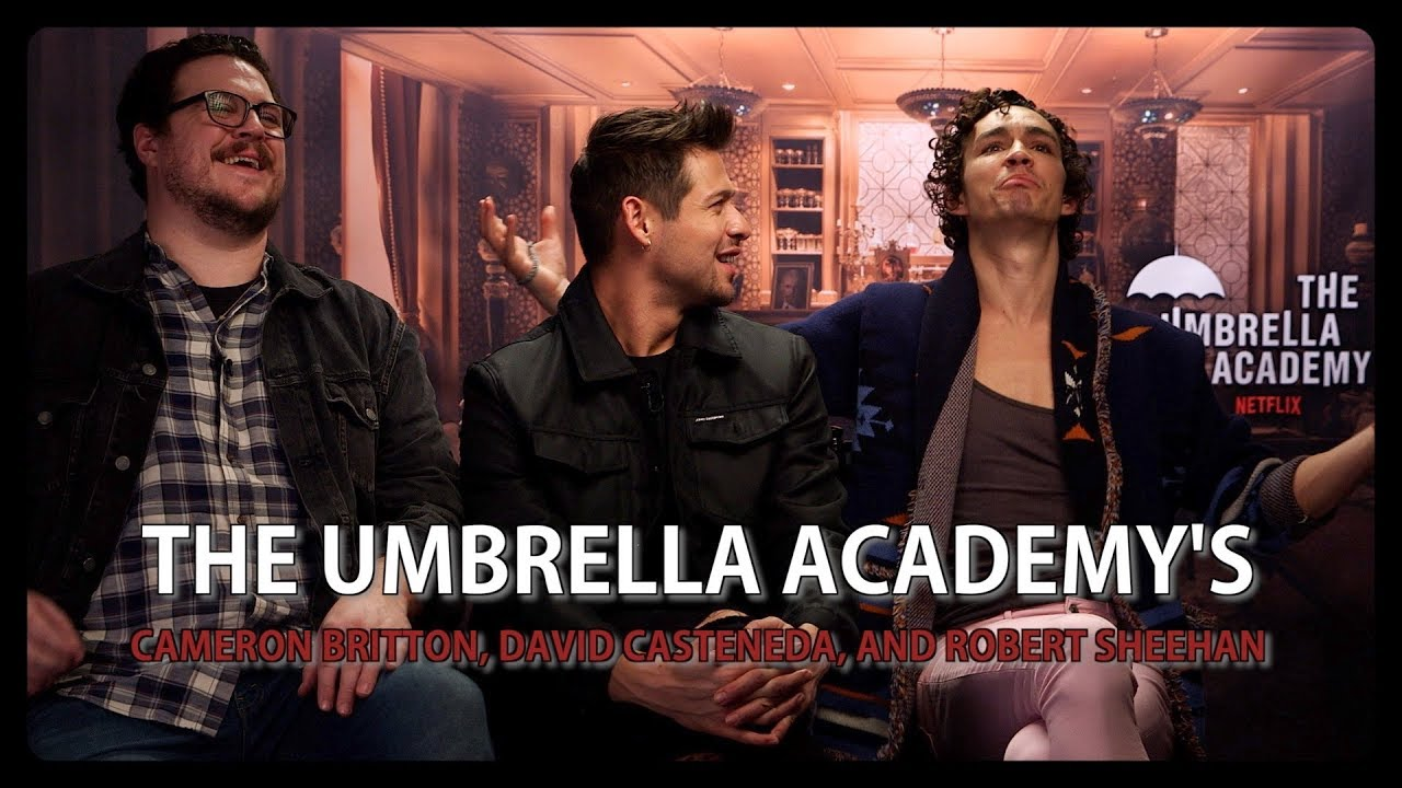 The Umbrella Academy's Cameron Britton, David Casteneda, and Robert Sheehan - INTERVIEW