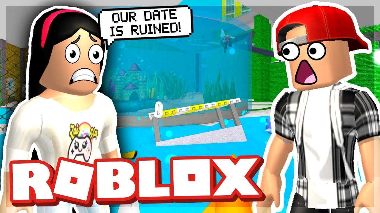 Our Romantic Date Was Ruined Roblox Escape The Aquarium Obby