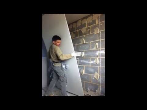 HOW TO PLASTERBOARD DOT + DAB DRY-LINE A WALL