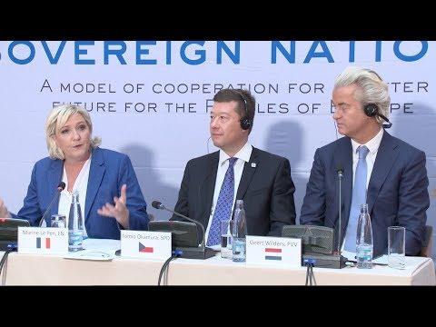 Marine Le Pen présente sa vision d'une Europe des Nations (Prague, 16/12/2017)