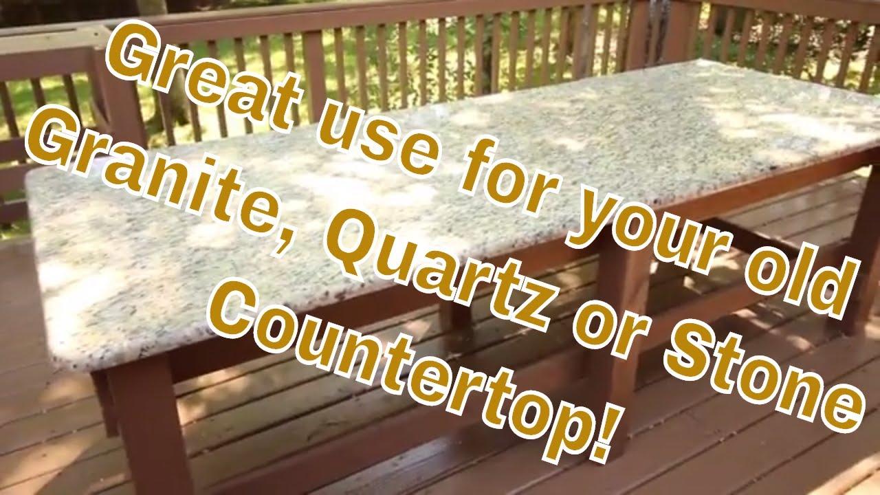 Old Granite Quartz Or Stone Countertop