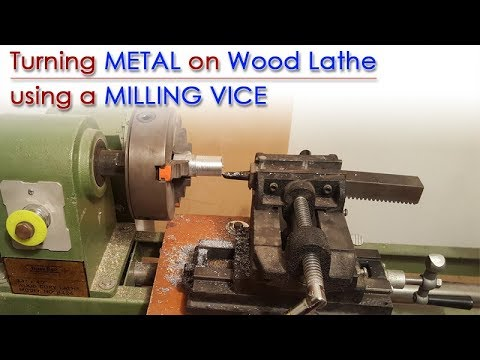 Converting a wood lathe to metal lathe with milling vice