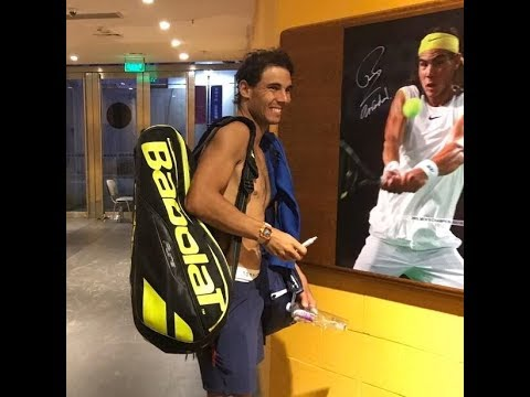"""RAFAel NADAL: """"my English is not enough good maybe"""" 🎾TALKS knee issues & impact on playing in London"""